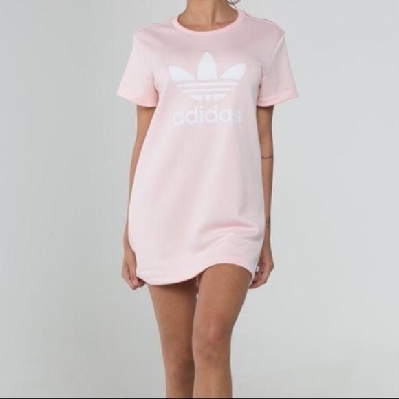 6e3139e77d5a adidas Originals Trefoil Tee Dress (Icy Pink)